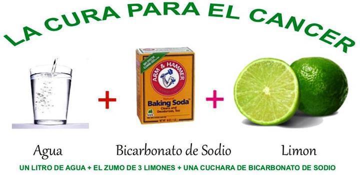Resultado de imagen de El Cáncer se cura con bicarbonato de sodio