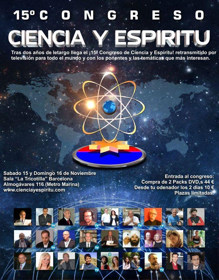 15º Congreso de Ciencia y Espíritu en Barcelona,