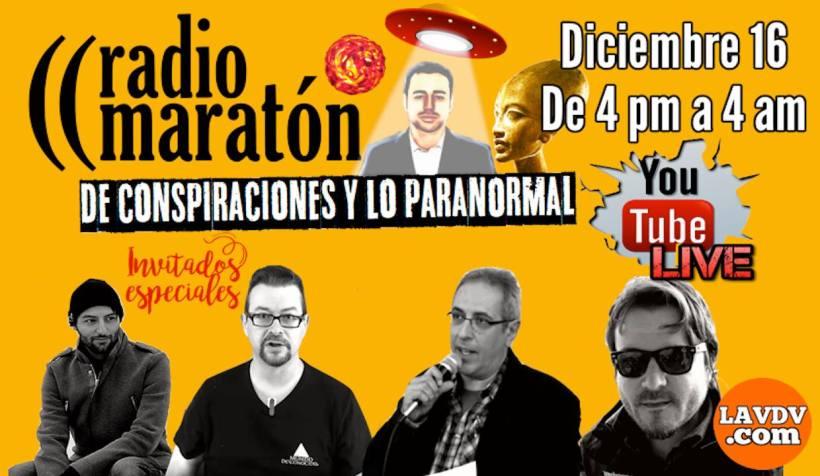 """12 horas de Maratón """"La voz del viento"""" sobre conspiraciones y lo paranormal"""